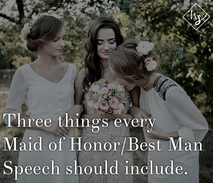 pinterest maid of honor best man speech